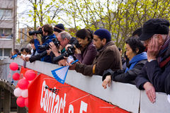 Marathon photographers Stock Images