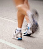 Marathon picture. Blurry image of corridors of a marathon Royalty Free Stock Photo
