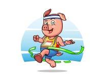 Marathon Pig Royalty Free Stock Images