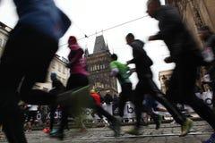 Marathon in Praag, Tsjechische Republiek royalty-vrije stock afbeeldingen