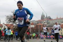 Marathon in Praag, Tsjechische Republiek stock foto's