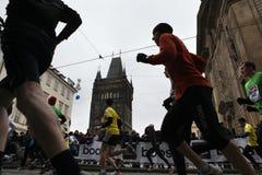 Marathon in Praag, Tsjechische Republiek stock afbeelding
