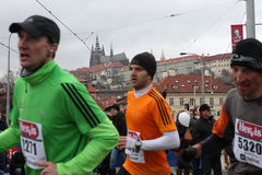 Marathon in Prague, Czech Republic Royalty Free Stock Photos