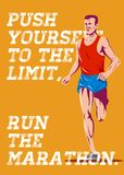 Marathon Push to the Limit Poster Stock Photos