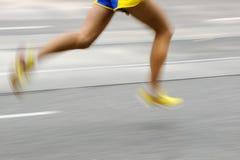 Marathon racer. Vertical image of marathon racer Stock Photo
