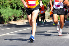 Marathon Racers. Group of marathon racers running Royalty Free Stock Photo