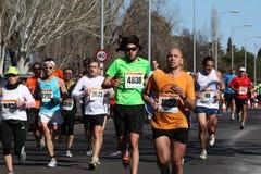 Marathon racers Royalty Free Stock Photo