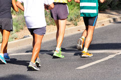 Marathon Racers. Group of marathon racers running Royalty Free Stock Photos