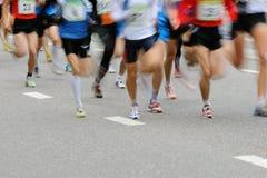 Marathon racers. Vertical image of marathon racers Royalty Free Stock Image