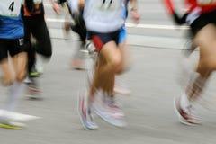Marathon racers. Vertical image of marathon racers Stock Photography