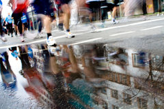 Marathon racers Royalty Free Stock Images
