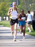 Marathon racers Stock Images