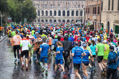 Marathon in Rome Royalty Free Stock Photos