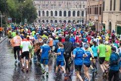 Marathon in Rome Royalty Free Stock Photos