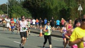 Marathon run at bristol portway stock video