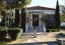 Marathon Run Museum. This is a Fall picture of the Marathon Run Museum campus located in Marathon, Greece.  This Museum is dedicated to the history of the Royalty Free Stock Photos