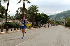Marathon Runner. Leading men running in Tiberius 2013 marathon Stock Photography