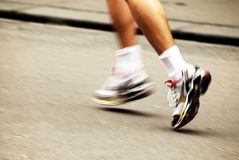 Marathon runner Stock Images
