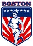 Marathon runner boston Royalty Free Stock Images