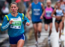 Marathon runner competes Royalty Free Stock Photos