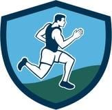 Marathon Runner Crest Retro Royalty Free Stock Image
