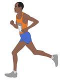 Marathon runner,detailed illustration. Vector Stock Photo
