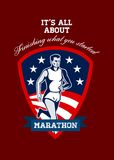 Marathon Runner Finish What You Start Poster Royalty Free Stock Image