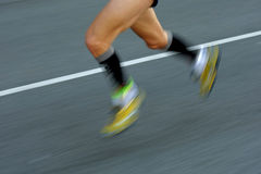 Marathon Runner legs Stock Photos