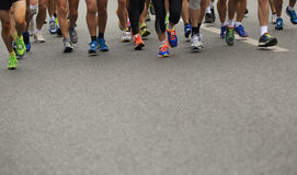 Marathon runner legs Royalty Free Stock Images