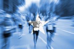 Marathon runner motion blur with blending  Somalia flag Stock Images
