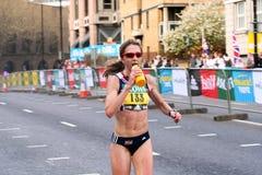Marathon Runner Num 133. London Flora Marathon 2008 - runner num 133 in the elite womens race Stock Photos