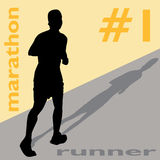 Marathon Runner Number One Royalty Free Stock Photo