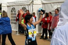 Marathon Runner Ozaki Akemi Stock Photos