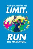 Marathon Runner Push Limits Poster Royalty Free Stock Photo