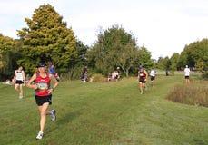 Marathon runner race Stock Photos