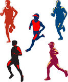 Marathon Runner Retro Collection Stock Image