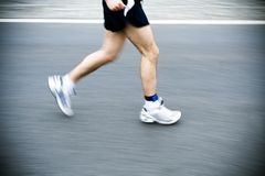 Marathon runner running in city Royalty Free Stock Photo
