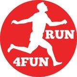 Marathon runner running race Royalty Free Stock Images