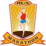 Marathon runner running race Royalty Free Stock Photography