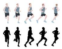 Marathon runner Stock Image