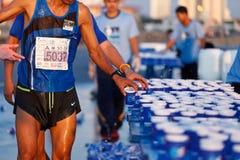 Marathon runner on street Royalty Free Stock Photos