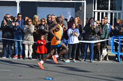 Marathon Runner. Vincent Yator winning and breaking the course record the Santa Pola half Marathon Stock Photography
