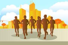 Marathon runners Stock Images
