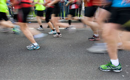 Marathon runners Royalty Free Stock Photography