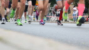 Marathon runners. Video of Marathon runners, close up stock video footage