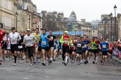 Marathon runners.Bath, UK. Royalty Free Stock Images