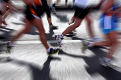 Marathon runners - blurred motion Royalty Free Stock Photography