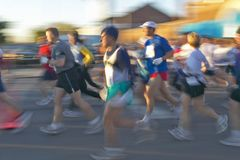 Marathon runners in Columbus Ohio Royalty Free Stock Photo