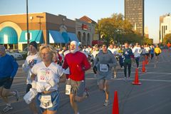 Marathon runners in Columbus Ohio Stock Images