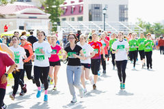 Marathon runners compete at the Spring Half Marathon Royalty Free Stock Images